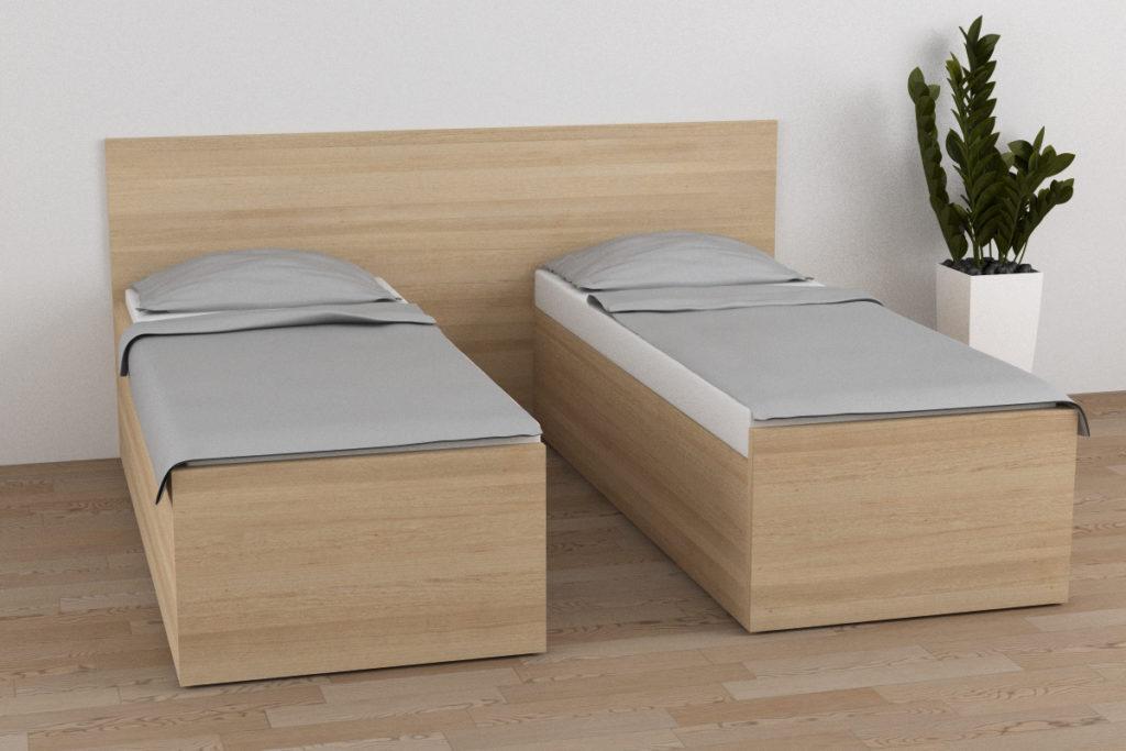 Posuvné hotelové postele HeyBay® Posuvná postel bez nočních stolků